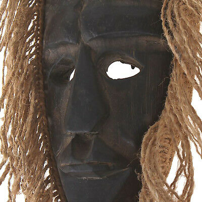 Mask Tribal Turtle Aboriginal African Tiki Wooden Hand Carved Art Hanging Decor