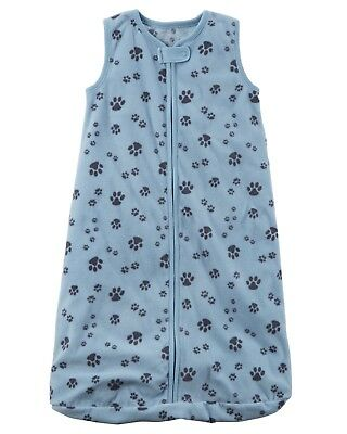 New Carter's Paw-Print Fleece Sleep Sack Bag Baby Infant Boys 0-3 6-9 months NWT