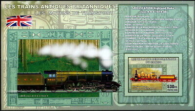Congo 2006 MNH Imperf SS, Antique British Train, Engine, Highland Duke Class 4-4