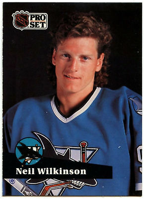 Neil Wilkinson #328 San Jose Sharks Pro Set 1991-2 Ice Hockey Card (C414B)
