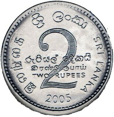 Sri Lanka 6-Pc Uncirculated Coin Set, 0.02 To 2 Rupees