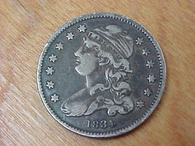 1834 Bust Quarter ~ True Auction .99 Cent Starting Bid And No Reserve!