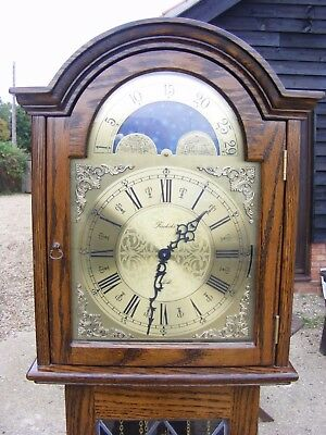 Lovely Weight Driven 8 Day Triple Chime Grandmother Clock**3 Chimes***