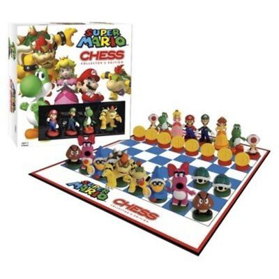 New & Sealed  Super Mario Chess Collectors Edition Board Game Set