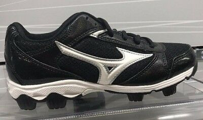 Brand New Mizuno Youth 9 Spike Franchise Baseball Cleats Black/White 3203999000