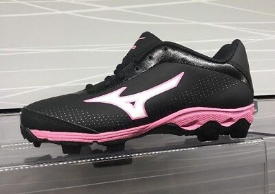 Brand New With a Box Mizuno Youth Franchise 5 Cleats Black/Pink 3204579013