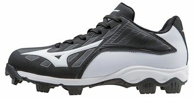 Brand New Mizuno 9 Spike Adv Youth Franchise 8 Cleats Black/White 3205079000