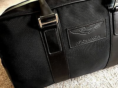 Aston Martin Holdall Bag Luggage - FINISHED IN BLACK FABRIC & LEATHER