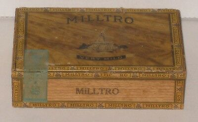 Milltro Vintage Wooden Cigar Box 1930s-1940s Pennsylvania 2 for 5 Cents NR