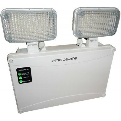 Emco LED Lighting IP65 4.7W Commercial Non-maintained Emergency Twin Spot Light