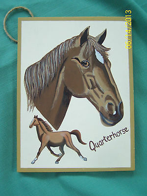 Quarterhorse Plaque, Handpainted on wood