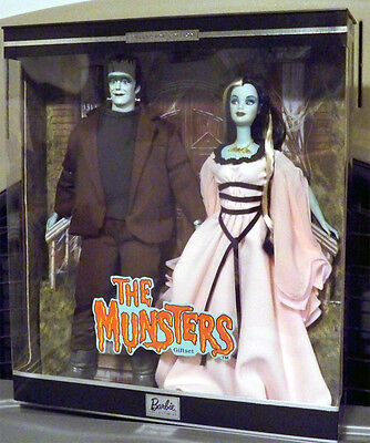 The Munsters Giftset 2001 NRFB Pop Culture Barbie Ken Mattel