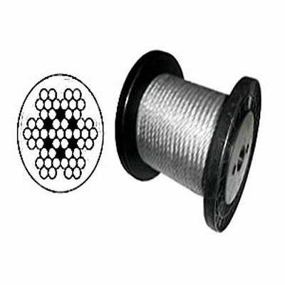 """Cable Railing Type 304 Stainless Steel Wire Rope Cable, 3/16"""", 7x7 Coil & Reel"""