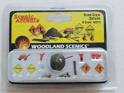 Woodland Scenics Accents 1/160 N Scale Road Crew Details # A2213 Factory Sealed