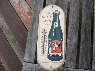 Rare 7Up Thermometer Canadian Version 7 Up Thermometer  Advertising Nice