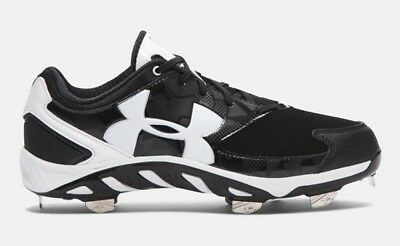 Brand New Under Armour Spine Glyde ST Softball Cleats Black/White 1264179011