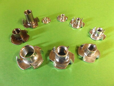 Four Pronged T Nuts, Captive Threaded Inserts For Wood M3, M5 ,m8, M10 & M12