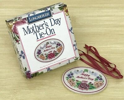 Longaberger Mother's Day 1996 Tie-on