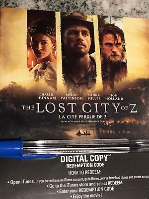 The Lost City Of Z HD Digital Code ONLY