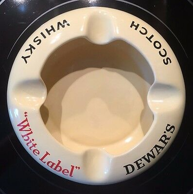Vintage Dewar's Scotch Whisky White Label Ashtray By Wade Surrey England Whiskey