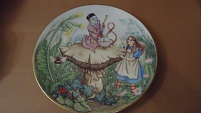 """""""The Caterpillar Collectors Plate Alice in Wonderland Georges Boyer Limoges 1981"""