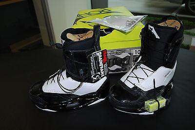 Ronix Frank Wakeboard Boots Size 11 Black Tie - NEW