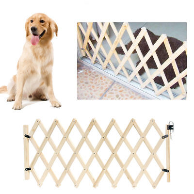Pet Dog Gate Puppy Cat Door Stretchable Barrier Animal Fence Indoor Safety Decor