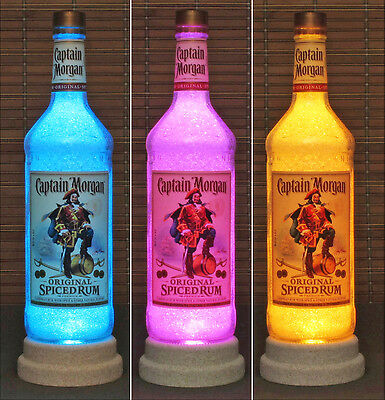 Captain Morgan Rum Color Changing Remote Control LED Bottle Lamp Bar Light