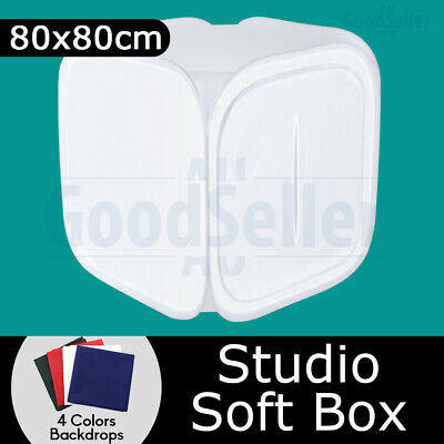 80CM Portable Photo Studio Light Room Softbox Cube Tent Soft Box w/ 4 Backdrops