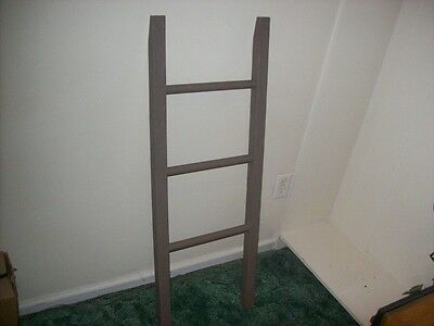 "Handcrafted Leaning /Towel/Scarf Ladder Rack, ""1"" Only! Ending Listing!"