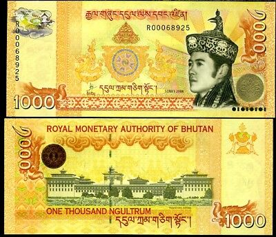 Bhutan 1000 1,000 Ngultrum 2008 P 34 New King Unc