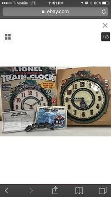 Lionel Train 100th Anniversary (1900-2000) Limited Edition Wall Clock Sealed
