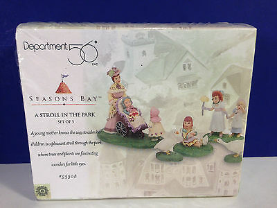 Dept 56 A STROLL IN THE PARK w/box Seasons Bay Village NEW Combine Shipping!