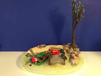 Dept 56 Heritage Village FISHING AT TROUT LAKE w/ box NEW! Combine Shipping!