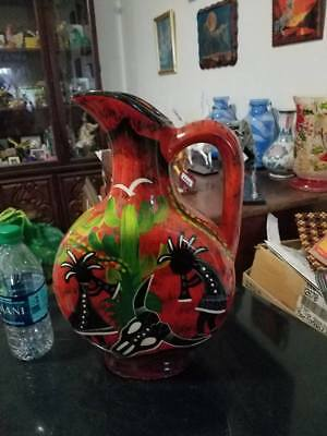 Kokopelli  Vase Or Pitcher Only One Available No Reserve !!!