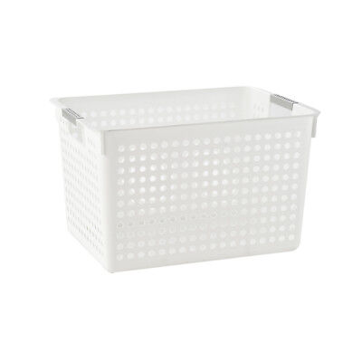 Plastic Rectangle Laundry Basket Hamper Storage with Insert Handles By Arpan