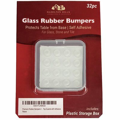 Premium Rubber Bumpers for Glass Stone Tile  Drawers | Self Stick Table