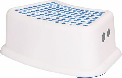 Kids Step Stool - Perfect for Potty Training and Bathroom Use - (White Blue) -