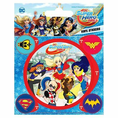 Official Licensed DC Super Hero Girls Characters Vinyl Stickers Set of 5