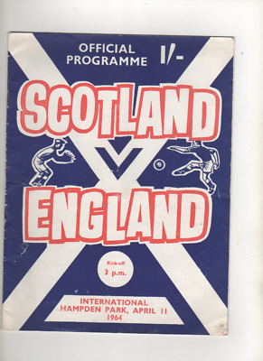 Scotland v England.11th  April 1964 @ Hampden Park Glasgow.