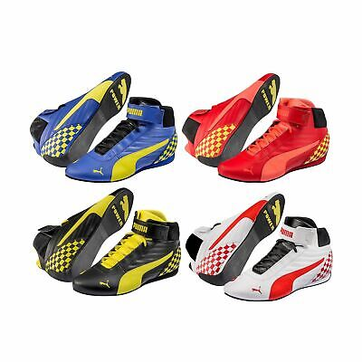 Puma Kart Cat Mid II Leather Go-Kart Race Racing Track Karting Boots