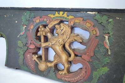 Late 18th Century Polychrome Ship's Stern Panel