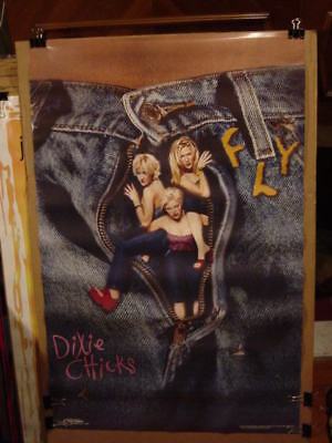 """DIXIE CHICKS VINTAGE 1999 FLY LP PROMO POSTER - 22 x 35"""" - RARE OUT OF PRINT!!!"""