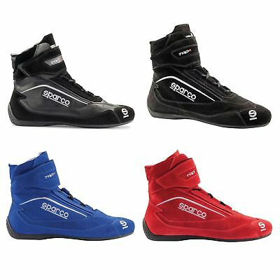 Sparco Top+ SH-5 FIA Approved Suede/Calfskin Racing-Race-Rally-Driving Boots