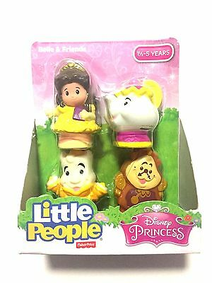 NEW Fisher-Price Little People Disney Princess Belle & Friends 4-Pack