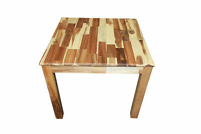 NEW 50cm High Beautiful Hardwood Acacia Square Top Table, Child-safe Material