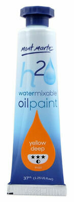 Mont Marte Water Mixable Oil Paint 37ml - Yellow Deep