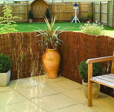 Garden Screening Brushwood Screen 4m long  -  Available in 3 different heights
