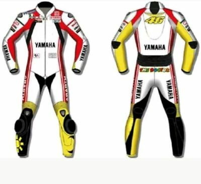 Yamaha 2017 Moto Gp Motorcycle Motorbike Cowhide Leather Suit Racing With Armour