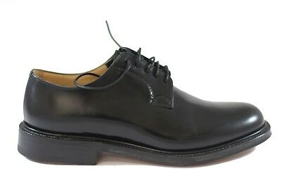 CHURCH'S Shannon Black Polished Binder brogue pelle spazzolata liscia FIT G